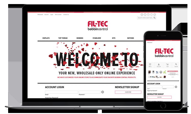 Fil-Tec website screen shots