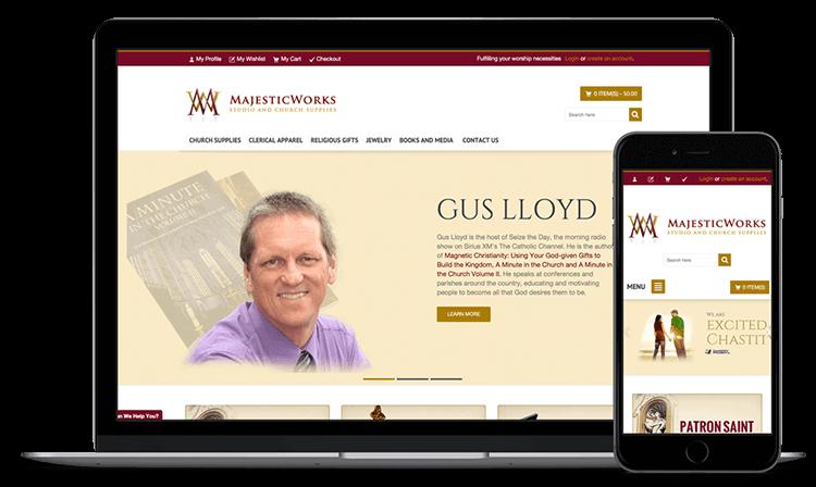 Majestic Works website screen shots